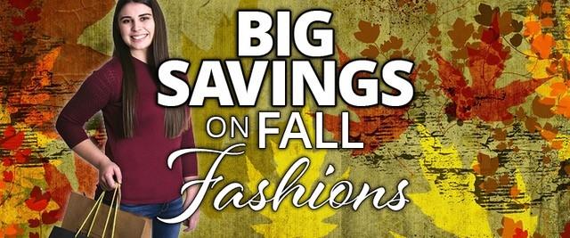 Fall Savings Slider